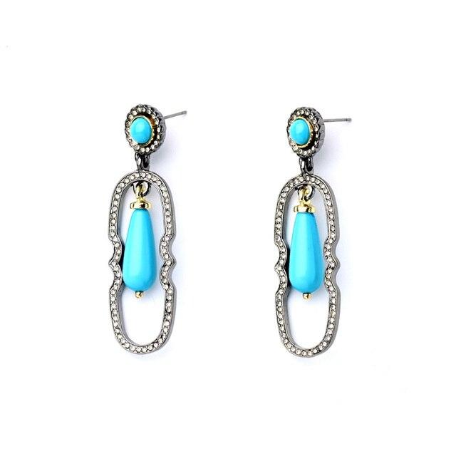 Alloy Fashion Retro Trendy Resin Pendant Ear Drop Earrings Online Ping India Women Jewelry