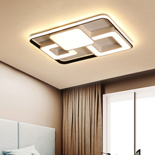 שחור ולבן led נברשת תאורה לילדים של חדר שינה זוהר para sala מודרני Led תקרת נברשת מנורה זוהר