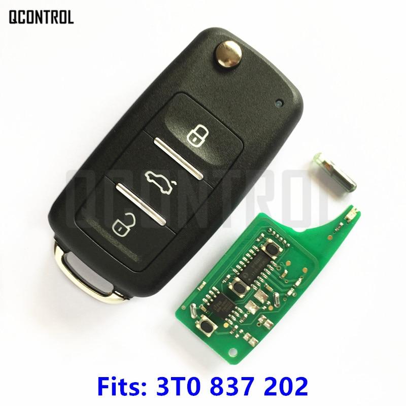 QCONTROL New Car Remote Key Suit for SKODA Citigo/Fabia/Octavia/Rapid/Roomster/Superb/Yeti 3T0 837 202 / 3T0837202