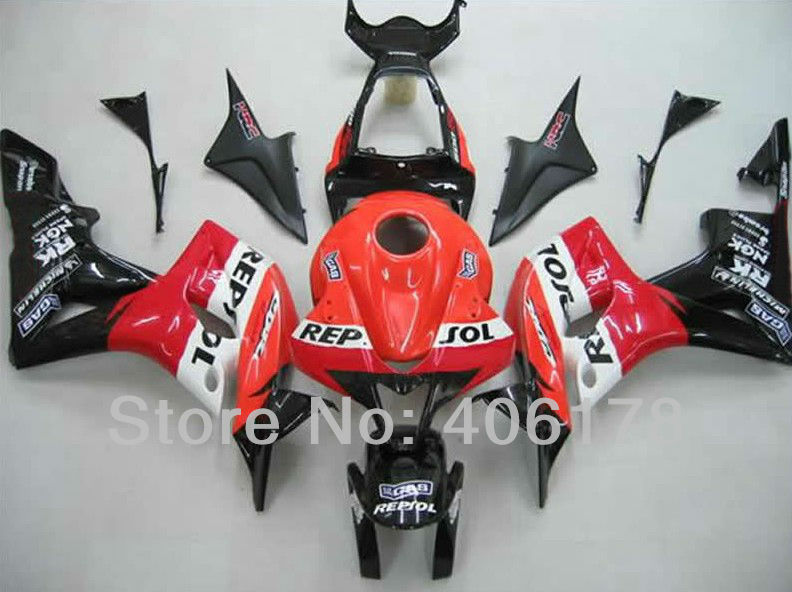 Hot Sales,Motorcycle Fairing Repair Kit For Honda CBR600RR F5 2007 2008 CBR 600 Race Bike REPSOL Body Kits (Injection molding)