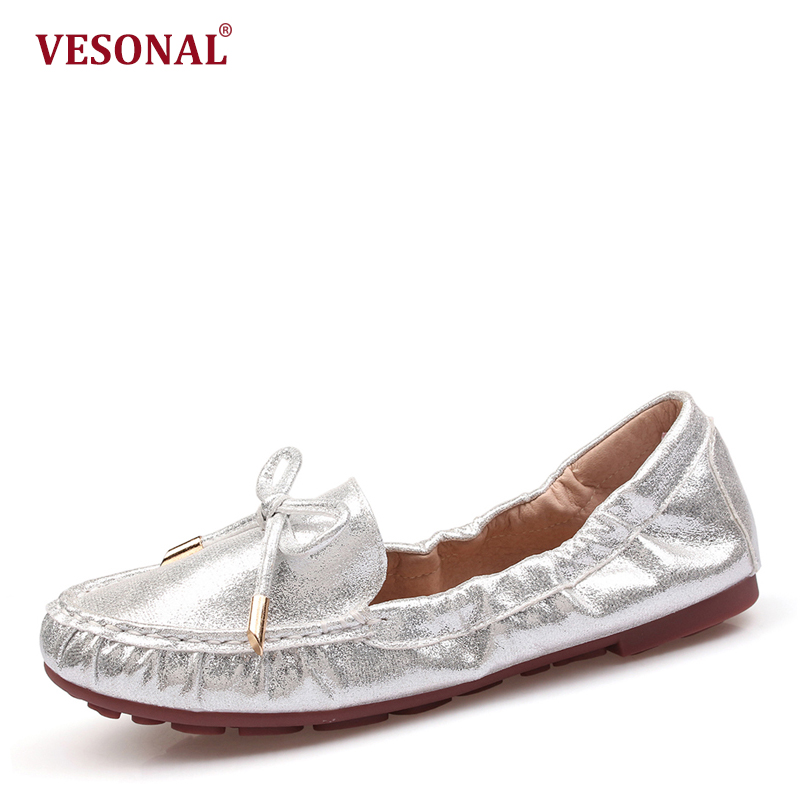VESONAL 2018 summer Ballet Flats women shoes loafers fashion Casual Slip On soft ladies female moccasins Driving footwear WHX816 vesonal brand faux fur women shoes flats 2017 winter warm velvet female fashion ladies woman sneakers casual footwear tsj 189