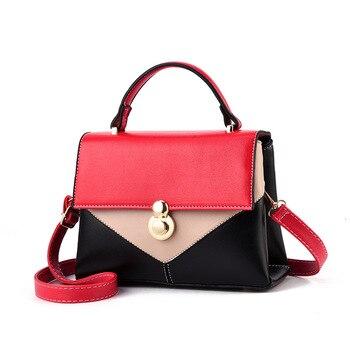 01974beb131a 2019 Женские сумки в Корейском стиле на плечо, сумки известных дизайнеров с  ручкой сверху, женские сумки-мессенджеры с металлической пряжкой, .