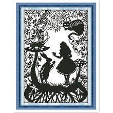 Fairy Tales 11CT Pattern Counted On the canvas DMC 14CT Cross Stitch kits,needlework embroidery For Sets,DIY Crafts,Home Decor(China)