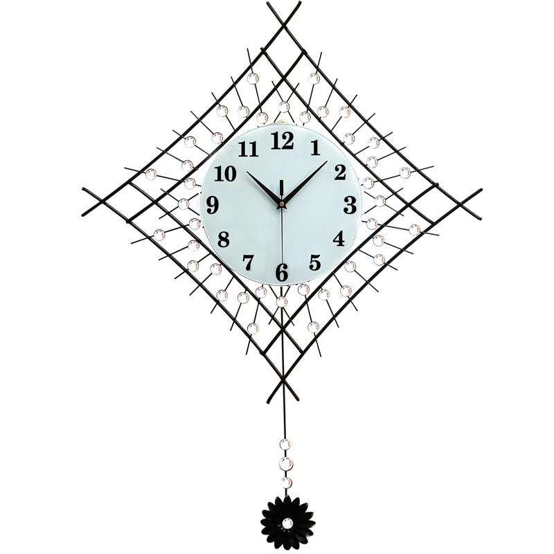 US $59 59 |Creative Modern Decoration Pendulum Clock The Sitting Room  Fashion Wall mute swing bedroom quartz clock 93*63cm-in Wall Clocks from  Home &