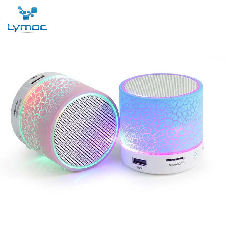 LYMOC Portable Bluetooth Speakers Mini Wireless Stereo Subwoofer Outdoor Music Speaker Bass AUX TF FM LED Light for All Phones