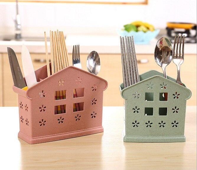 1PC cutlery drainer Kitchen Drainer Strainer Organizer Dryer Storage Spork Spoon Cutlery Holder Chopsticks Cage OK 0535