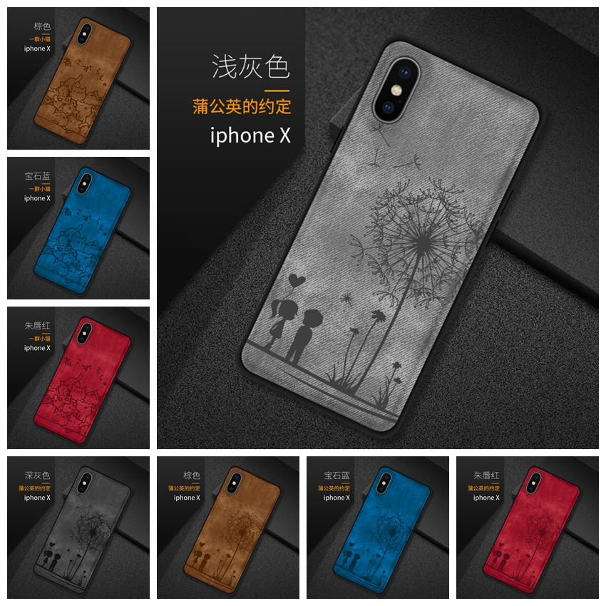 For <font><b>IPhone</b></font> <font><b>X</b></font> <font><b>Case</b></font> Cute Animal Fabric <font><b>Silicone</b></font> Cover For <font><b>iPhone</b></font> <font><b>X</b></font> 7 6 6S 8 Plus Cover Funda For <font><b>iPhone</b></font> XS MAX XR 8Plus 7Plus <font><b>Case</b></font> image