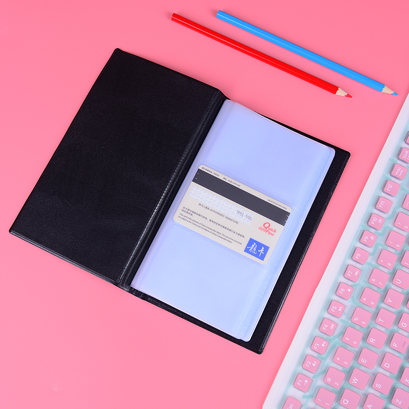 PU Leather 240 Cards Business Name Card Book Credit Card Holder Book OrganizerPU Leather 240 Cards Business Name Card Book Credit Card Holder Book Organizer