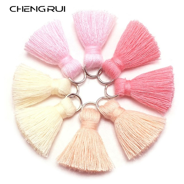 CHENGRUI L46,2cm,tassel,cotton tassels,mini tassel,jewelry accessories,diy accessories,earrings materials,10pcs/bag