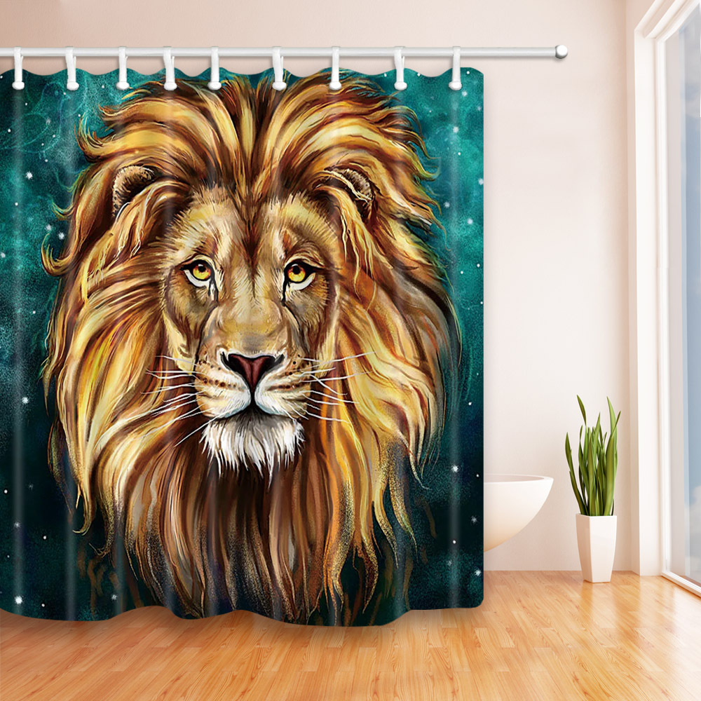 Waterproof Polyester Shower Curtain Bathroom Curtain with Hooks Home Decor Bathroom Accessory Animal Flower Butterfly Heart 1PC