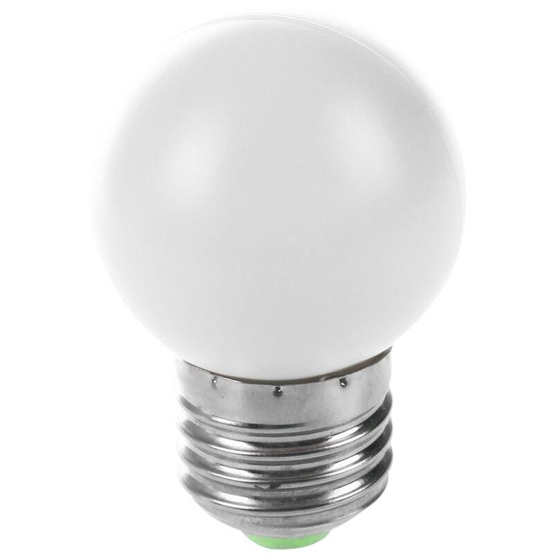 E27 LED Light White Bulb Plastic Bulb (0.5W Power, White)