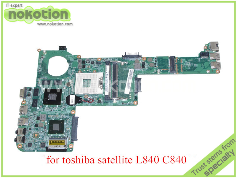 NOKOTION For toshiba Satellite C840 L840 Laptop motherboard HD4000 ATI 216-0833000 graphics DDR3 DABY3CMB8E0 REV E A000174880 nokotion a000175380 laptop motherboard for toshiba satellite c840 l840 main board ati hd7670m graphics ddr3 daby3cmb8e0