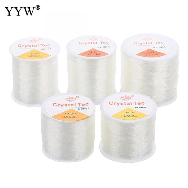 100m/PC DIY Crystal Beading Stretch Cord Elastic Line,0.5/1mm Transparent Clear Round Beading Wire/String/Thread Jewelry Making