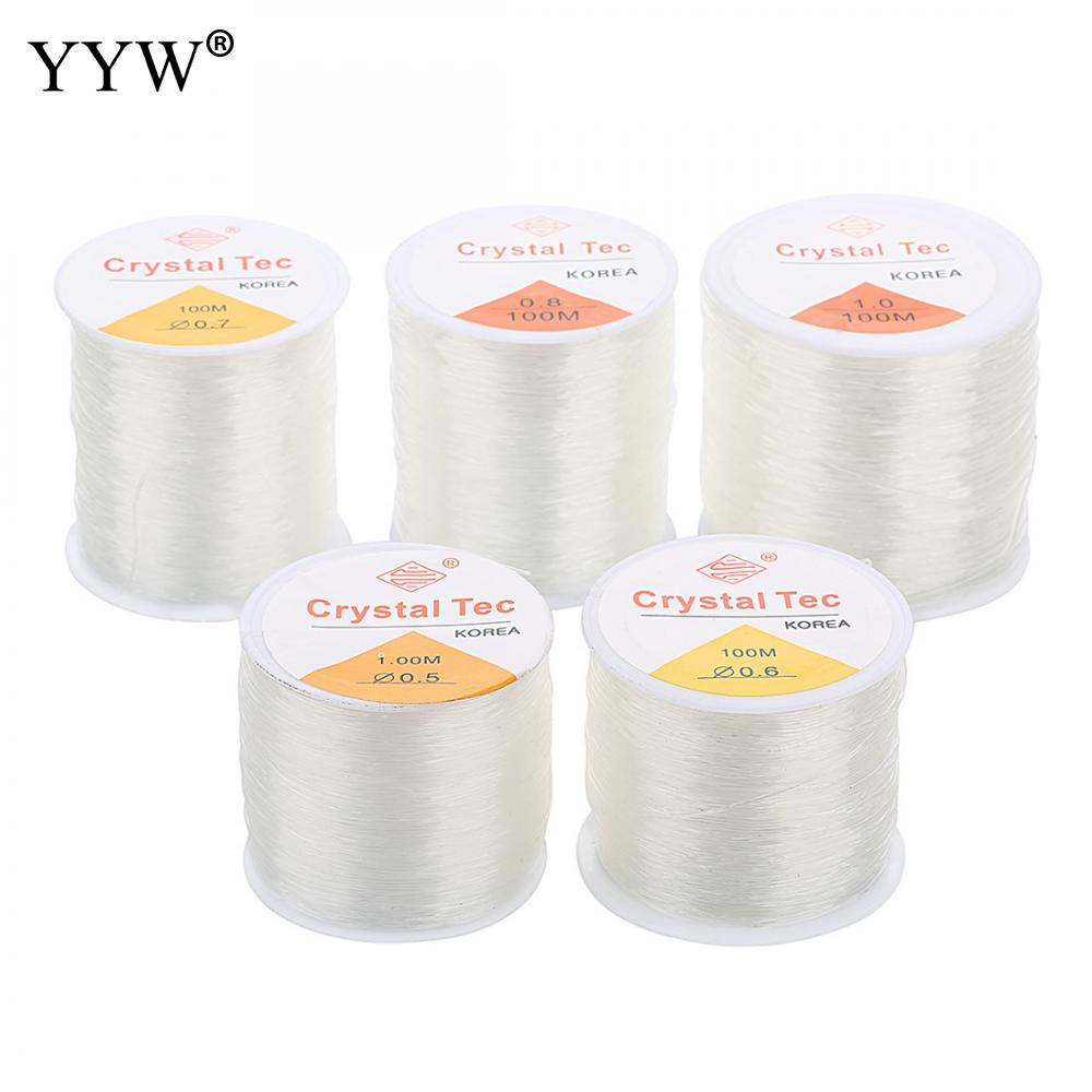 100m/PC DIY Crystal Beading Stretch Cord Elastic Line,0.5/1mm Transparent Clear Round Beading Wire/String/Thread Jewelry Making цена