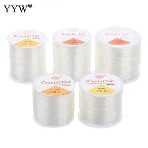 100m/PC DIY Crystal Beading Stretch Cord Elastic Line,0.5/1mm Transparent Clear Round Beading Wire/String/Thread Jewelry Making(China)