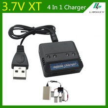 3.7V 4 In 1 Banlance Charger For Syma X5C Udi U818A WLtoys V686G toy RC toys DC 5V XT Plug Lipo battery charger