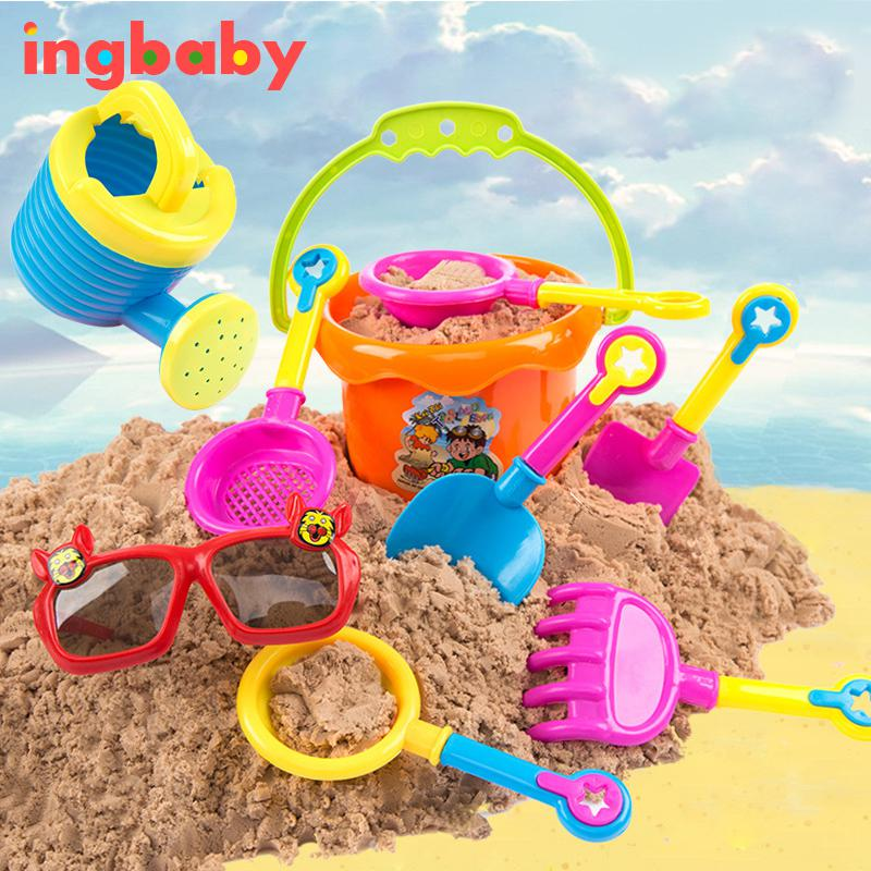9 Pcs/set Beach Shoveling Tools Baby Bath Play Water Educational ...