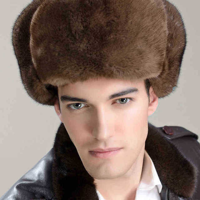 The new man 2015 minks red army cap Lei feng's hat fur hats during the winter Leisure to keep warm New product on sale
