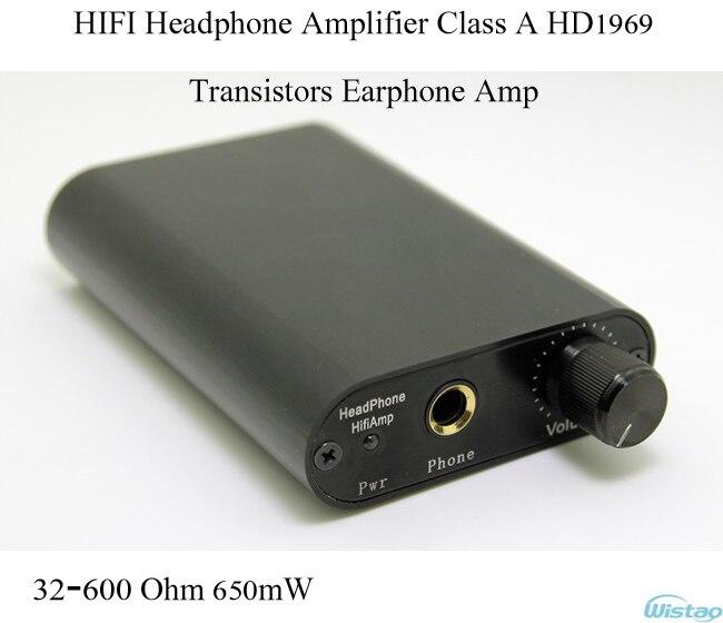 IWISTAO HIFI Headphone Amplifier Transistors Earphone Amp Class A HD1969 32-600 Ohm 650mW Tube Taste Black Free Shipping brand new appj pa1502a valve tube headphone earphone amplifier class a 6n4 6p6p black vintage hifi audio