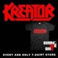 Logotipo da Banda de Thrash metal Kreator T-shirt de Algodão Tee T Pano