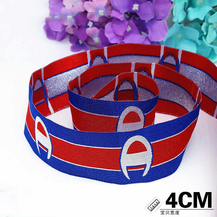 "NEW 4cm 1-1/2"" Star same style Red Blue Grosgrain Ribbon Clothing sewing accessories, DIY accessories handmade materials 1 meter"