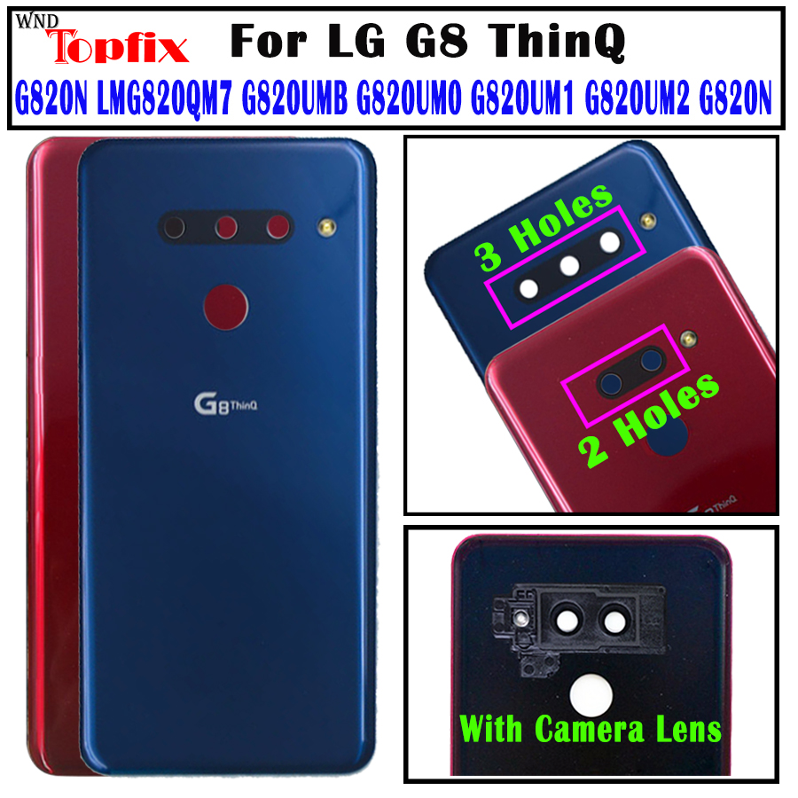G820N Black G820 Color : Silver Mobile Phone Replacement Battery Back Cover with Camera Lens /& Fingerprint Sensor for LG G8 ThinQ G820QM7