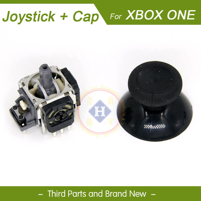 HOTHINK 2pair/lot New Joystick 3D Analog Sensor + joystick cap cover for XBOX one Controller gamepad