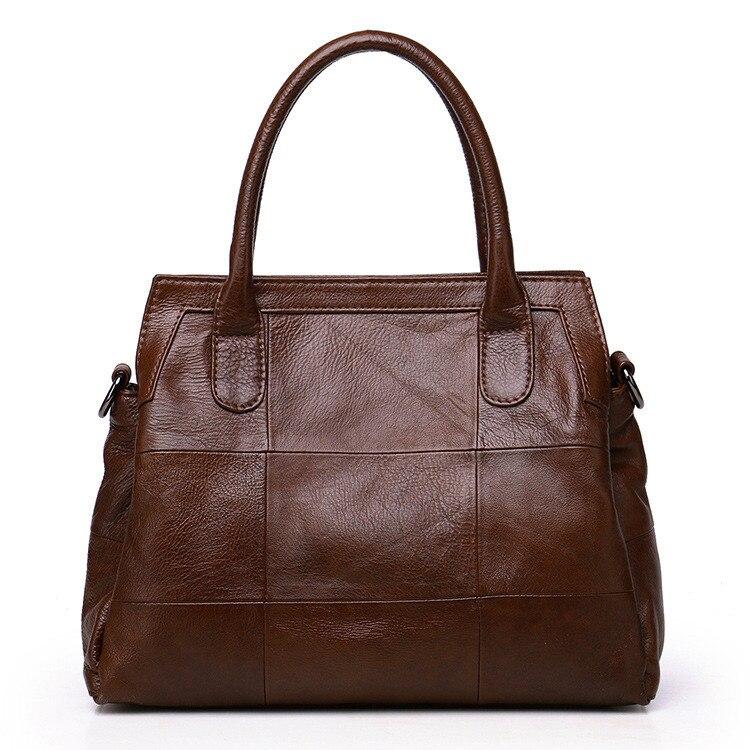 ICEV 2019 new casual women's genuine leather handbags large capacity cowhide big tote bag ladies office clutch famous brands sac