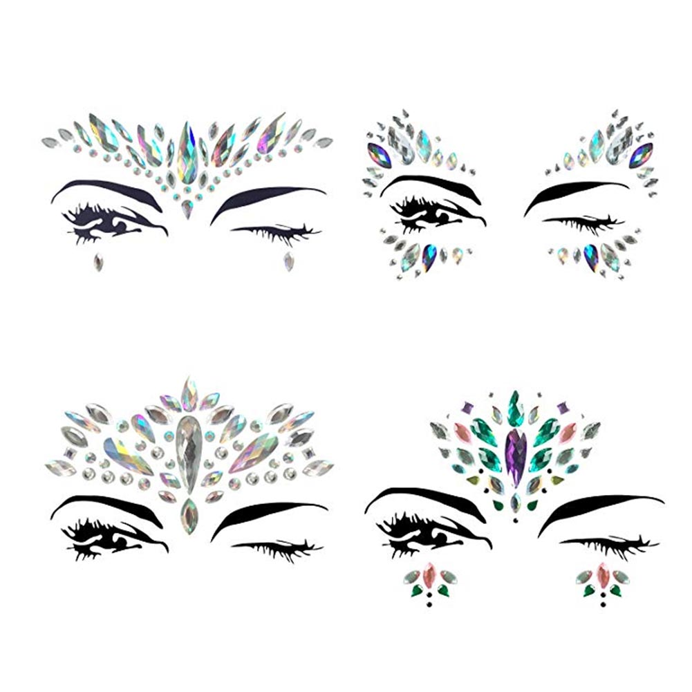 Face Jewels Glitter Mermaid Eyes Tears Gems Stones Jewelry Stickers Crystal  For Festival Party Women Temporary Tattoo Body Rhine-in Temporary Tattoos  from ... 958f7bfbcda2
