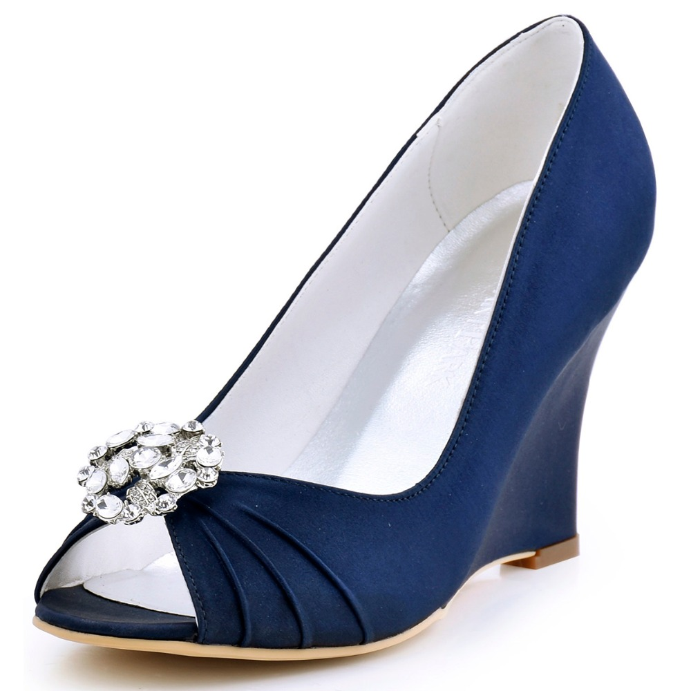 Buy elegantpark ep2009am women wedges for What shoes to wear with navy dress for wedding