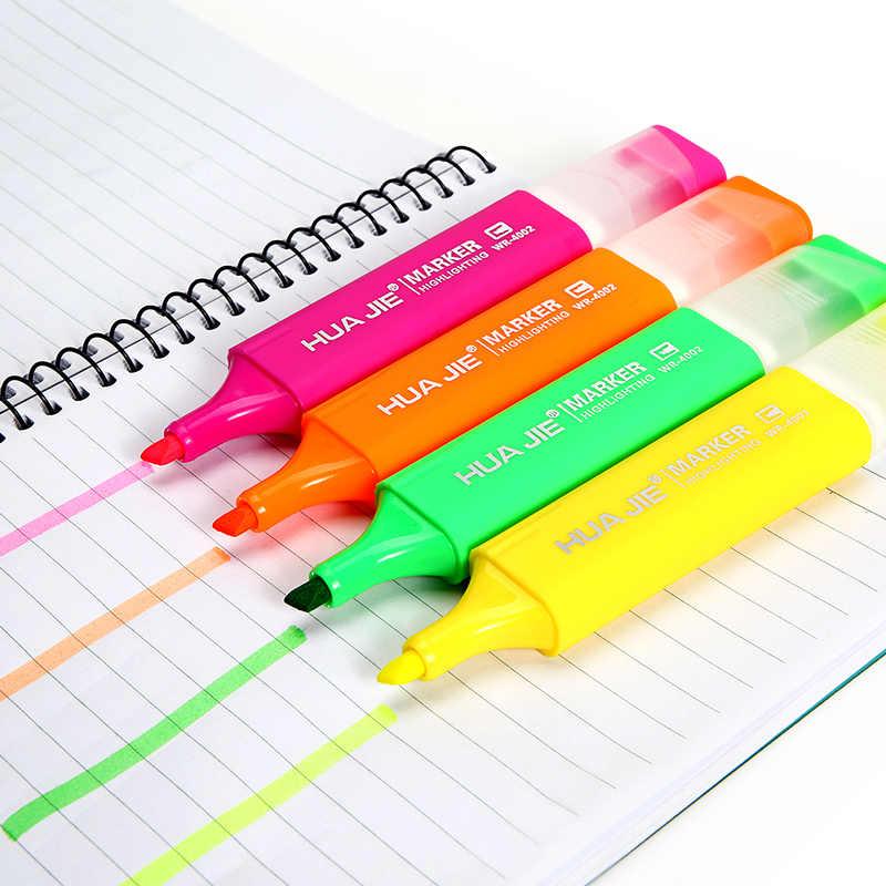Warna-warni Stabilo 4 Warna Neon Seni Spidol Sketsa Pena Menggambar Lukisan Alat Tulis Kantor Sekolah WR4002