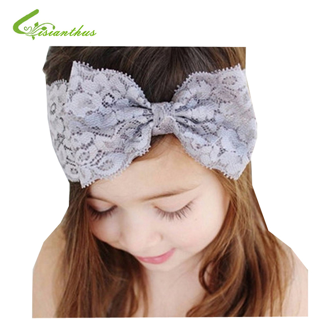 Hot Sale Handmade Lace Bow Headband For Baby Girls Fashion Lace Hairband  With Hair Bow Kids Boutique Hair Accessories Wholesale 3f7d60bf8cb