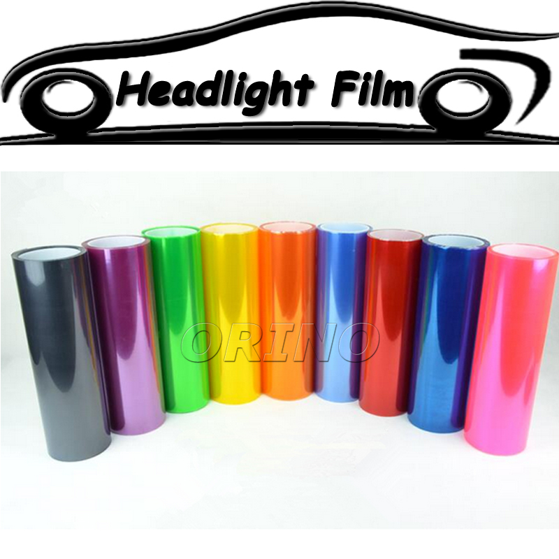 100 Rolls Car Styling 12 Colors Truck Car Headlight Film Car Taillight Fog Light Vinyl Film
