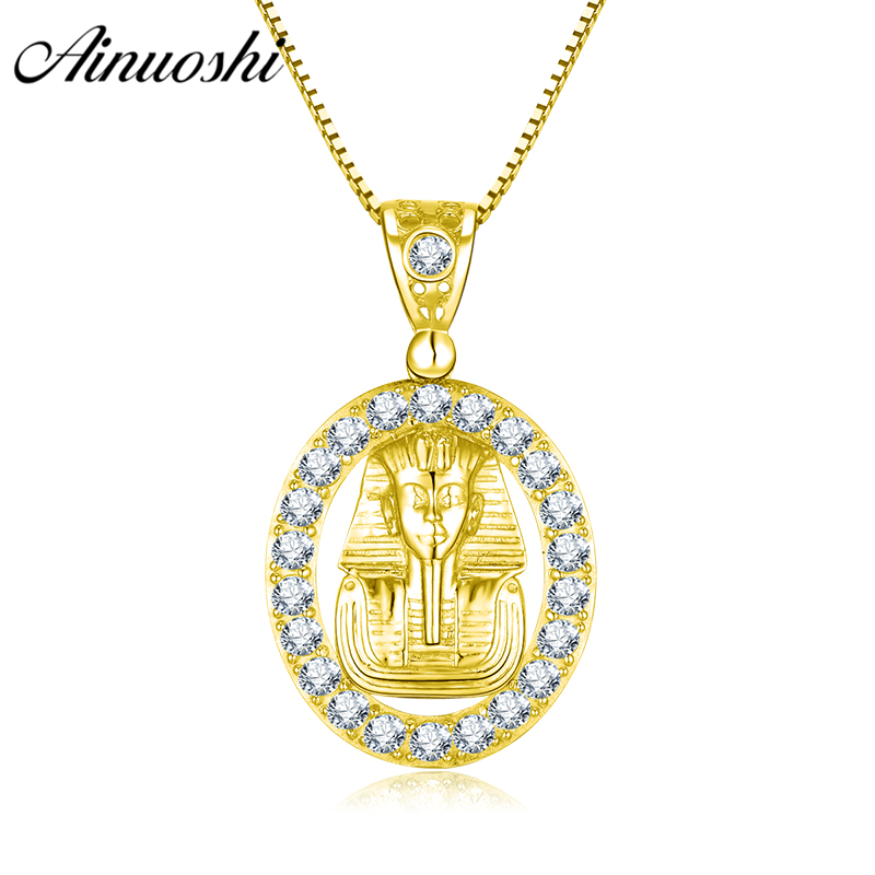 AINUOSHI 10K Solid Yellow Gold Oval Pendant Egyptian Queen Pendant Religious Faith Christian Fine Jewelry 4.6g Separate PendantAINUOSHI 10K Solid Yellow Gold Oval Pendant Egyptian Queen Pendant Religious Faith Christian Fine Jewelry 4.6g Separate Pendant