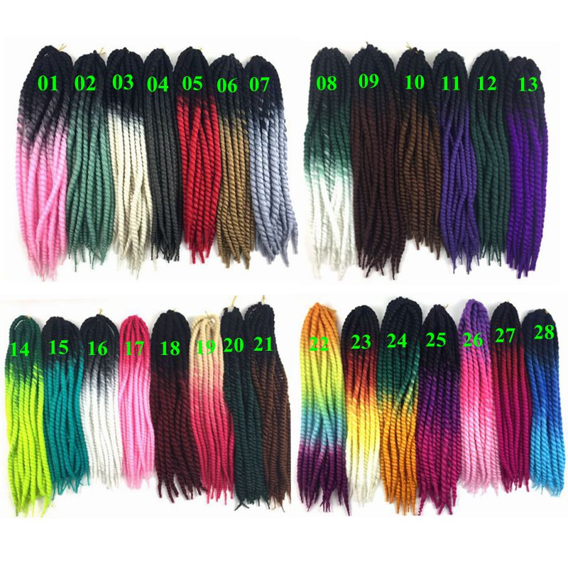 Luxury For Braiding Pre Twist Synthetic Hair 120g 12strands pc 22 quot Two Three Tone Colors Ombre Jumbo Havana Twist Crochet Braids in Havana Twist Braids from Hair Extensions amp Wigs