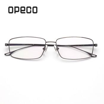 Opeco pure titanium men's eyeglasses including RX lenses prescription eyewear frame RX recipe male  spectacles 6634