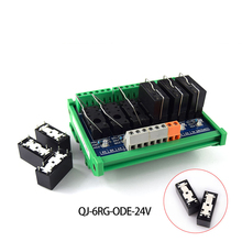 лучшая цена 6-way original OMRON relay 1NO module, 16A driver board PLC amplifier board, 6-pin relay