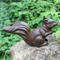 Vintage Home Garden Decor Heavy Cast Iron Squirrel Statue