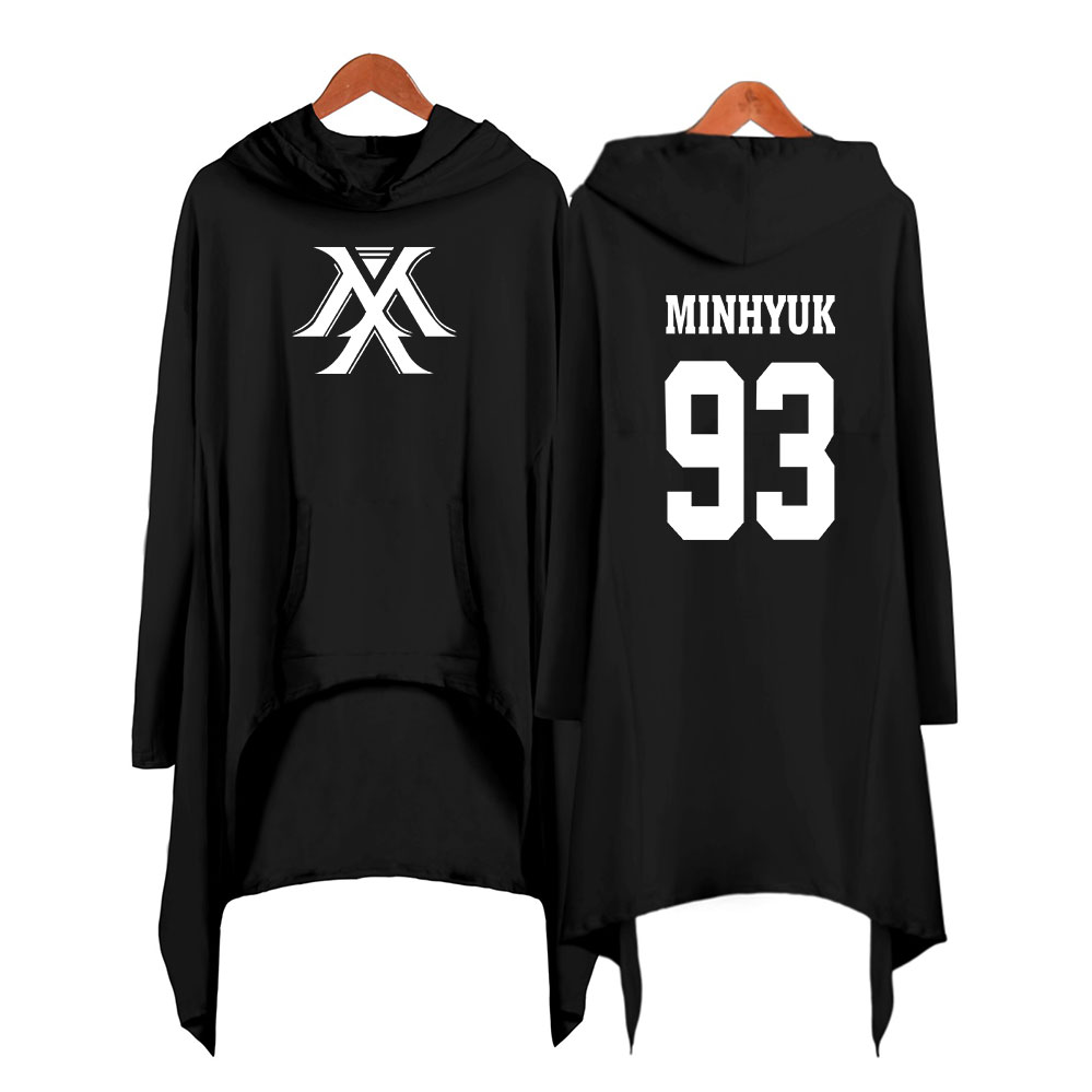 Image 2 - Drop shopping Monsta x dress fashion 2019 women Hooded sweatshirt Monsta x kpop clothes pullover-in Hoodies & Sweatshirts from Women's Clothing