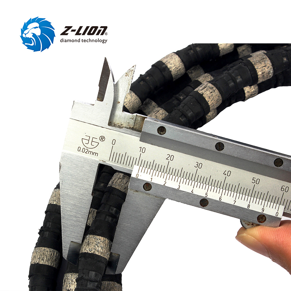 Z LION Diamond Wire Saw Diameter 11mm Length 5 Meter Stone Cutting ...