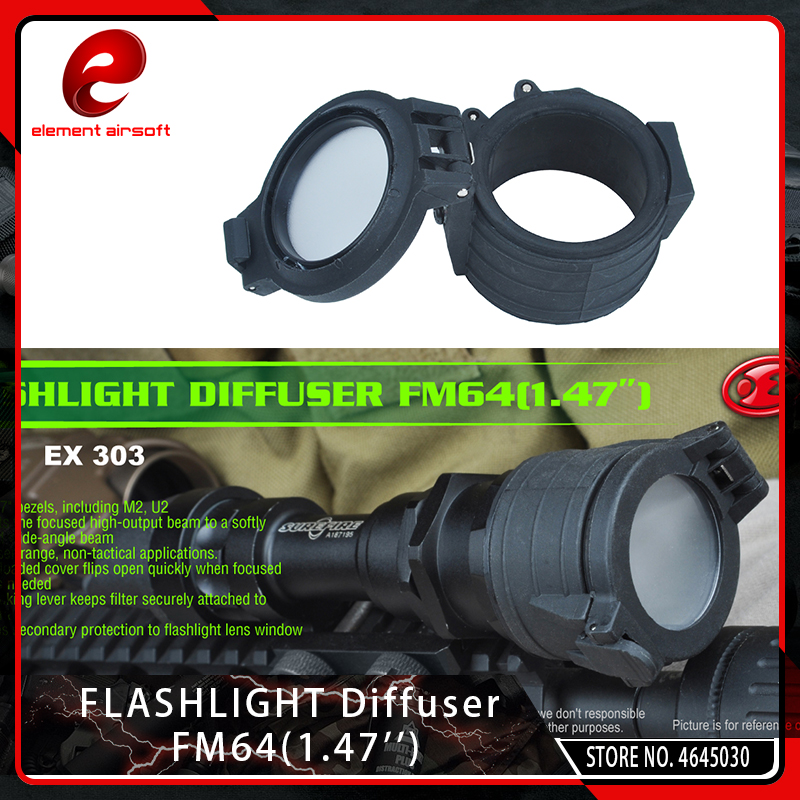 Diffuser-Cover Flashlight Element Airsoft M951 FM64 Light-Accessories Bezel 37mm-Diameter