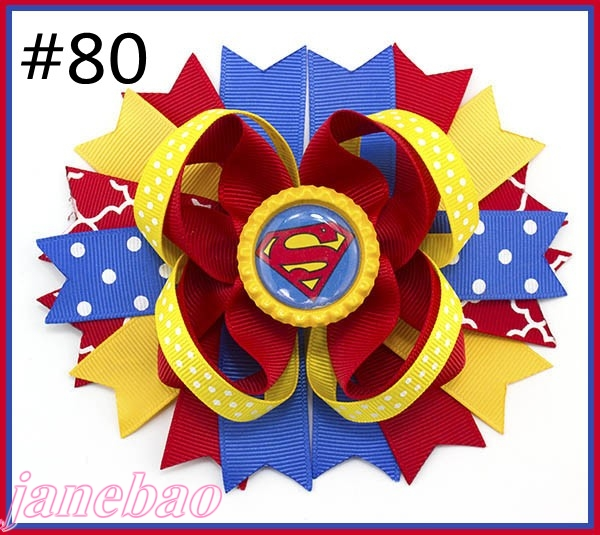 free shipping 2017 Newest 50pcs 5 5 inspired hair bows popular character hair bow with lined