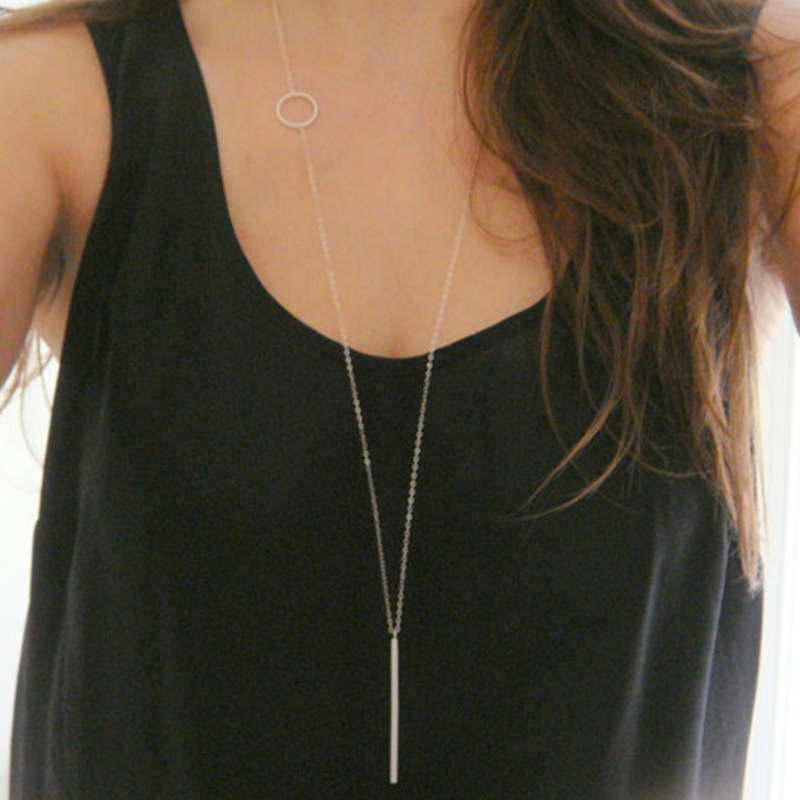 New arrival Simple loops stick long necklace XL239
