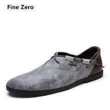 Тонкой zero Демисезонный мужская обувь на плоской подошве модные высокое качество замши мужские оксфорды на шнуровке Мужская обувь в деловом стиле, Мужские модельные туфли