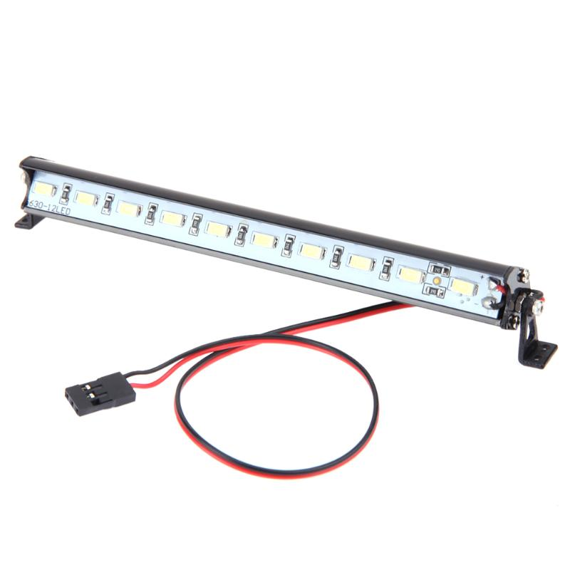 Remote Control Car Metal LED Light Bar RC Car Roof Lamp for Traxxas Trx-4 Climbing Car Accessories Lighting Lamp partol black car roof rack cross bars roof luggage carrier cargo boxes bike rack 45kg 100lbs for honda pilot 2013 2014 2015