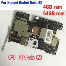 Toàn cầu Firmware mở khóa Di Động Điện Tử bảng điều chỉnh mainboard Bo Mạch Chủ Cho Xiaomi Redmi LƯU Ý 4X MTK Helio X20 4 GB 64 GB mạch