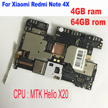 グローバルファームウェアロック解除携帯電子パネルマザーボードマザーボード Xiaomi Redmi 注 4X MTK エリオ X20 4 ギガバイト 64 ギガバイト回路