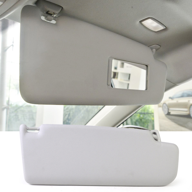 OEM 3B0857551 1Pc New Grey Sun Visor Left Side Fit for VW Golf Passat 2000 2001 2002 2003 2004 2005 3B0 857 551 6X0857551E