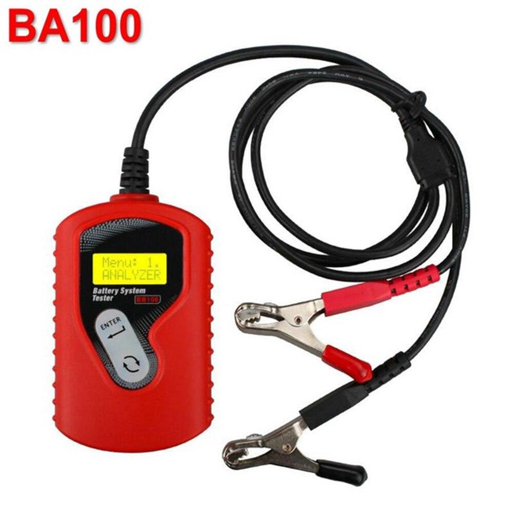 Testeur de batterie de voiture 12 V testeur de voiture analyseur de batterie de véhicule détecteur de batterie automobile BA100 outil de Diagnostic de batterie de voiture