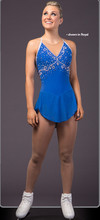 ice skating competition clothing blue girls figure dress custom women training dresses for figure free shipping spandex